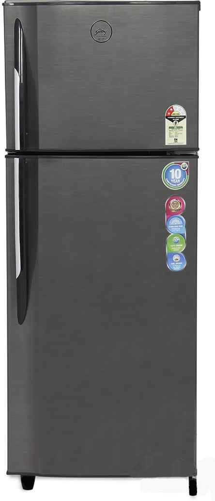 Best price on Godrej RT EON 231 C 2.4 231Ltr 2S Double Door Refrigerator (Silver Strokes) in India