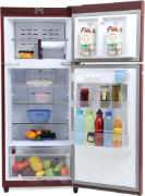Best price on Godrej RT EON 241 P 3.4 3S (Petals) 241 Litres Double Door Refrigerator - Back in India