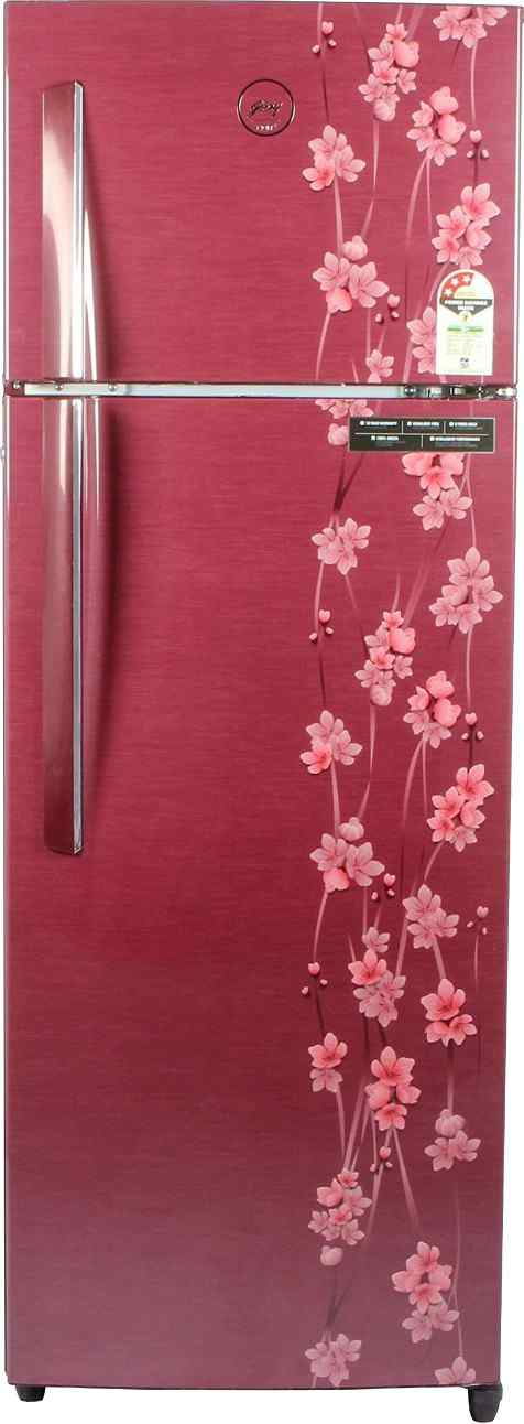 Best price on Godrej RT EON 290 P 3.4 3S (Ruby Petals) 290L Double Door Refrigerator in India