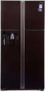Best price on Hitachi R W720FPND1X GBK 638 Litres 4 Door Refrigerator - Front in India