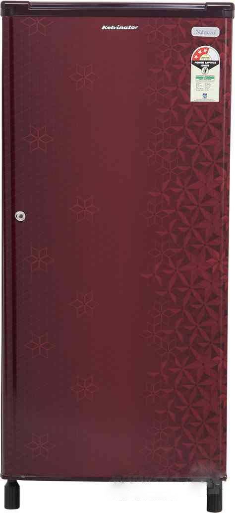 Best price on Kelvinator KW203EFYR/G 190 Litres Single Door Refrigerator (Geometry) in India