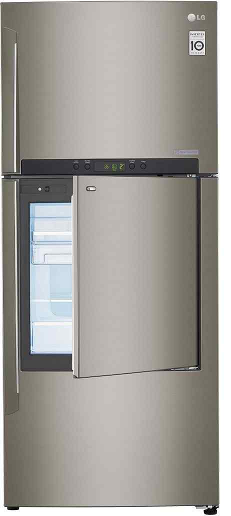 Best price on LG GC-D432HLAM 3S 426 Litres Door In Door Refrigerator (Shiny Steel) in India
