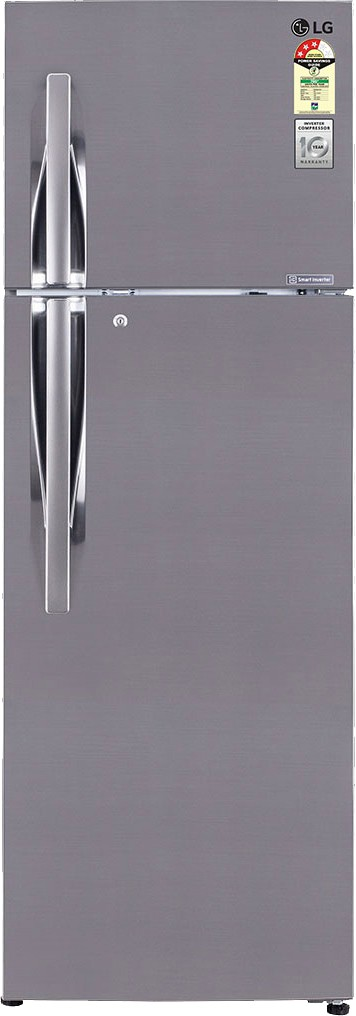 Best price on LG GL-M322RPZL 310 Litres Double Door Refrigerator (Shiny Steel) in India