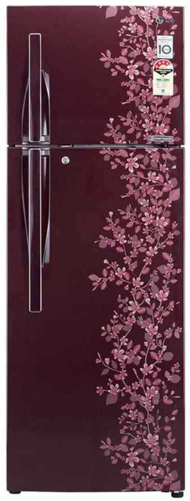Best price on LG GL-C282RSPL/RMPL 255 Litres Double Door Refrigerator (Paradise)  in India