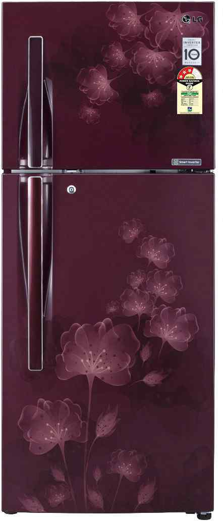 Best price on LG GL-D322JSFL/MFL/GFL/PFL 310 Litres 4S Double Door Refrigerator (Florid) in India