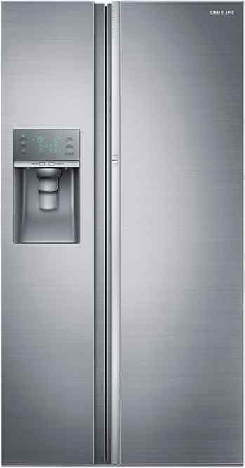 Best price on Samsung RH77J90407H 838 Litre Side-By-Side Door Refrigerator (Solid Metal) in India