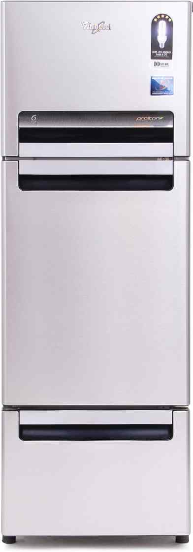 Best price on Whirlpool FP 263D Royal Protton 240 Litres Triple Door Refrigerator (Alpha Steel) in India