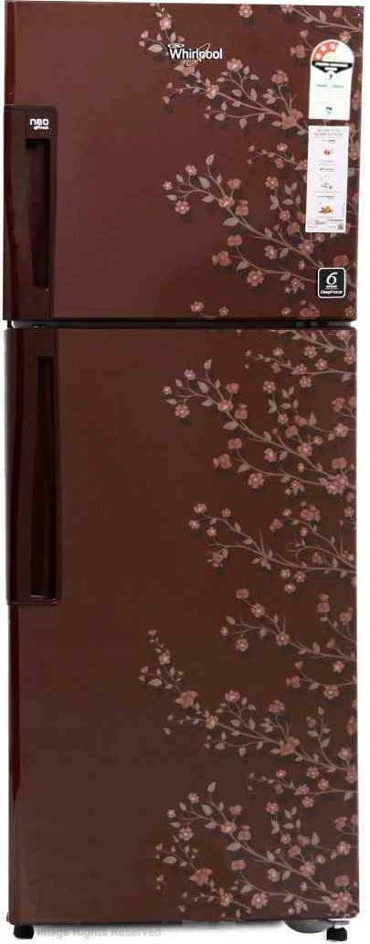 Best price on Whirlpool Neo FR278 ROY 3S (Wine Gloria) 265 L Double Door Refrigerator in India