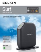 Best price on Belkin Surf F7D2301 300N Wireless Router - Side in India