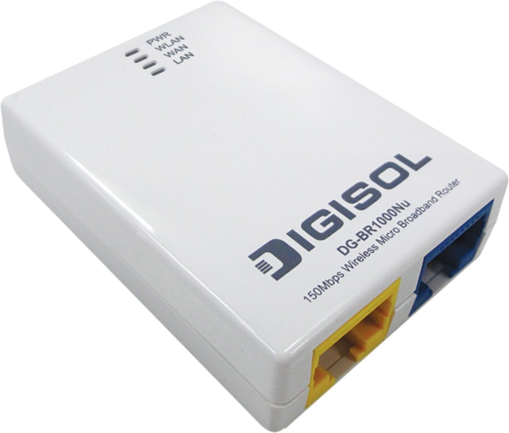 Best price on Digisol DG-BR1000Nu 150Mbps Wireless Micro Broadband Router in India