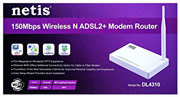 Best price on Netis DL4310 150Mbps Wireless N ADSL2 MODEM Router - Side in India