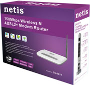 Best price on Netis DL4311 N150 Wireless Modem Router - Top in India