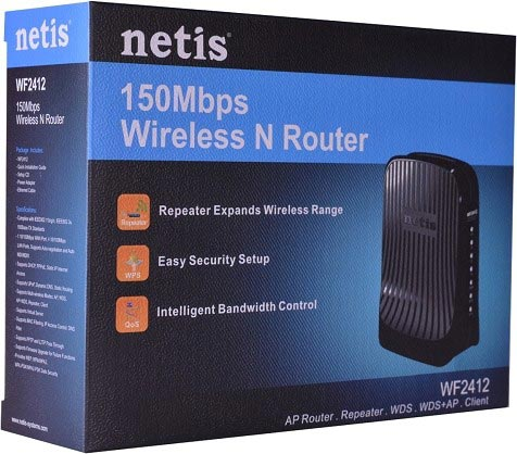 Best price on Netis WF2412 150Mbps Wireless N 4 Port Router in India