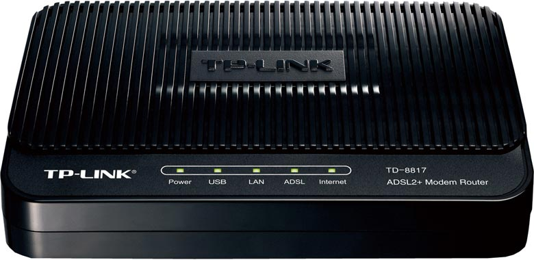 Best price on TP-LINK TD-8817 ADSL2 Ethernet/USB Wired with Modem Router in India