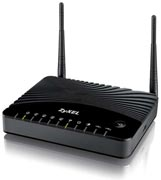 Best price on ZyXel AMG1312-T10B 300 Mbps WiFi Router - Front in India