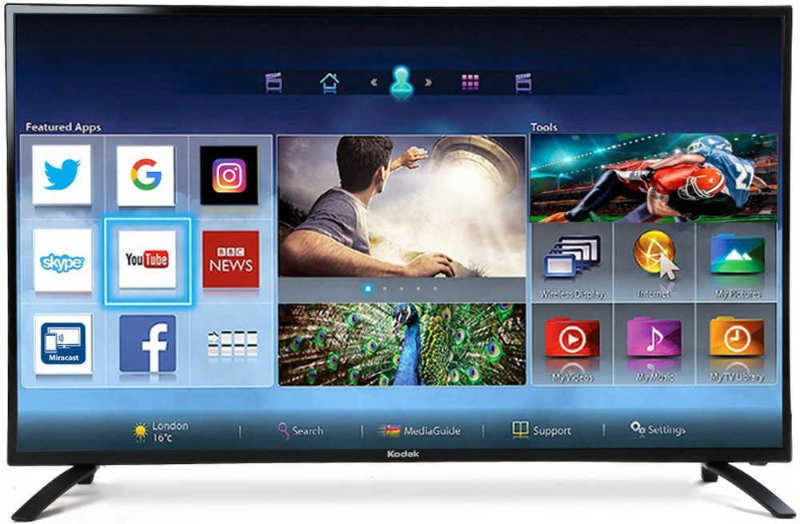 Best price on Kodak 122 cm (50 inches) 50FHDXSMART Full HD LED Smart TV in India