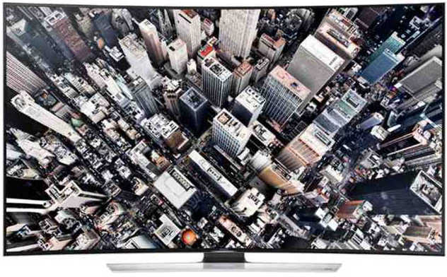 Best price on Samsung 65HU9000 65 inch Ultra HD Curved Smart 3D LED TV  in India
