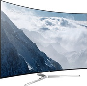 Best price on Samsung UA55KS9000KLXL 55 Inch Ultra HD 4K Curved Smart LED TV  - Front in India