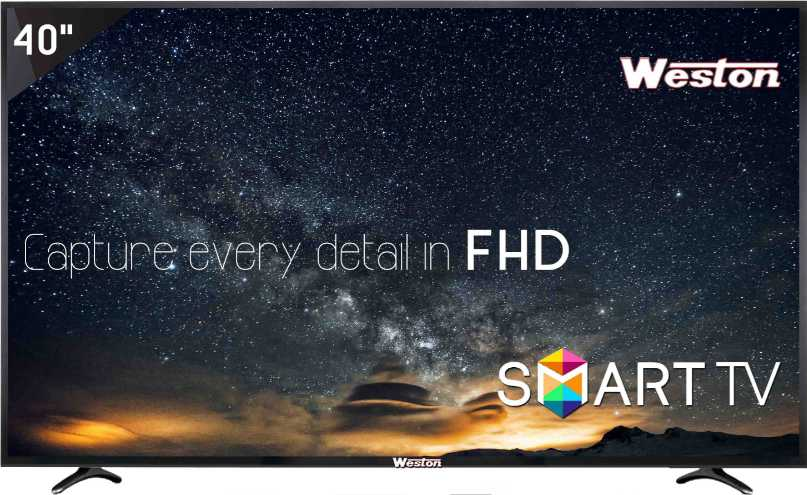 Best price on Weston WEL-4000S 40 Inch Smart HD Ready LED TV  in India