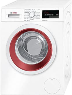 Best price on Bosch WAP24360IN Fully-automatic Front-loading Washing Machine (9 Kg, White and Maroon) in India