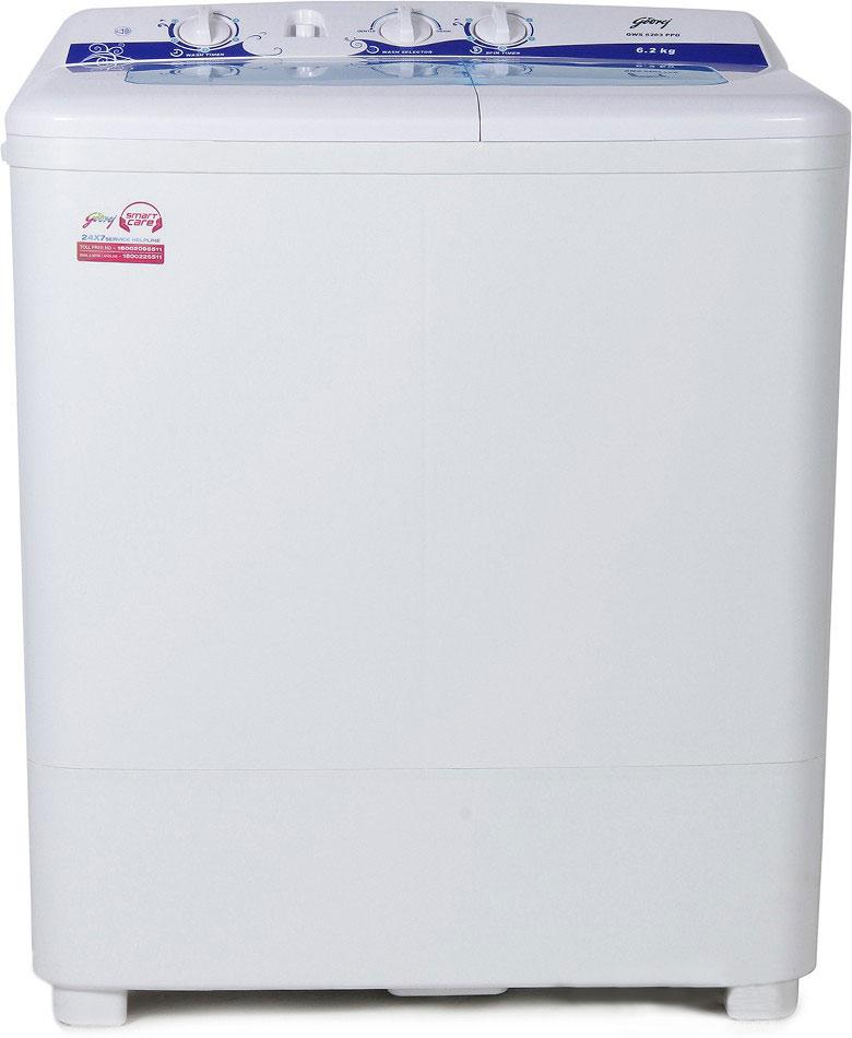 Best price on Godrej GWS 6203 6.2 Kg Semi-Automatic Washing Machine in India