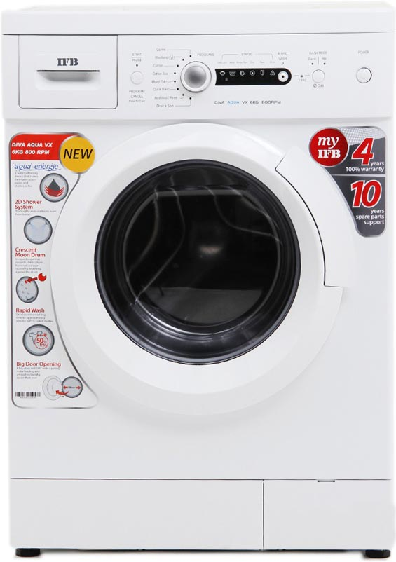 Best price on IFB Diva Aqua VX 6Kg Fully Automatic Front Load Washing Machine in India