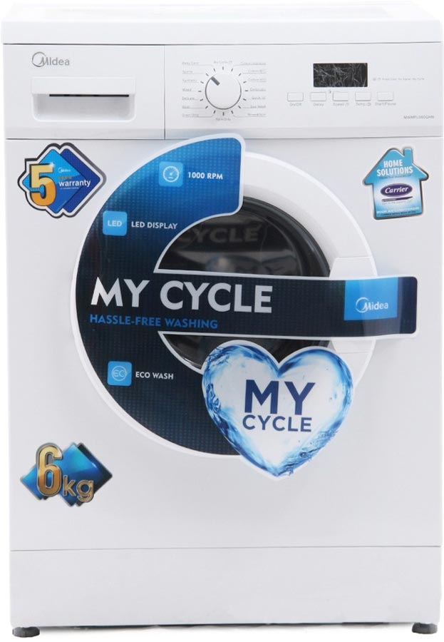 Best price on Carrier Midea MWMFL060GHN 6 Kg Fully Automatic Washing Machine in India