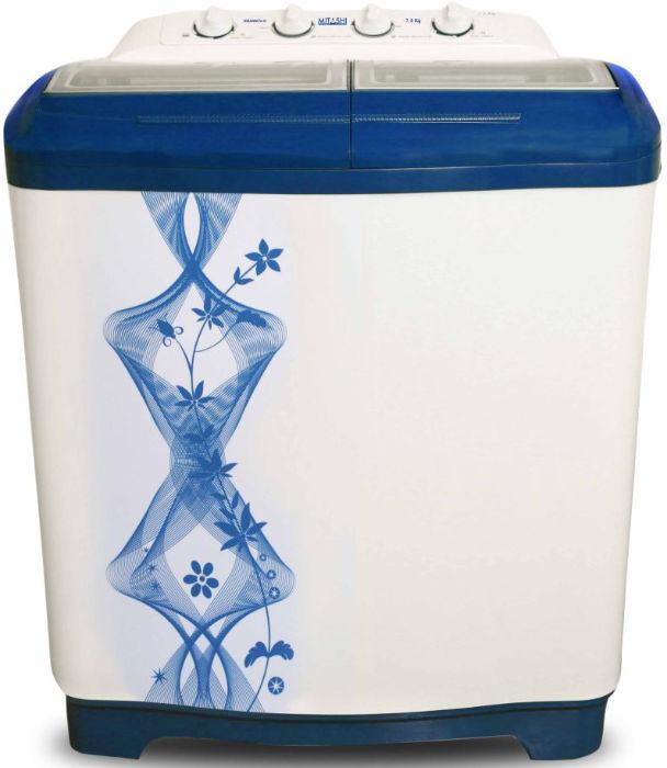 Best price on Mitashi MiSAWM75v10 7.5Kg Semi Automatic Washing Machine in India