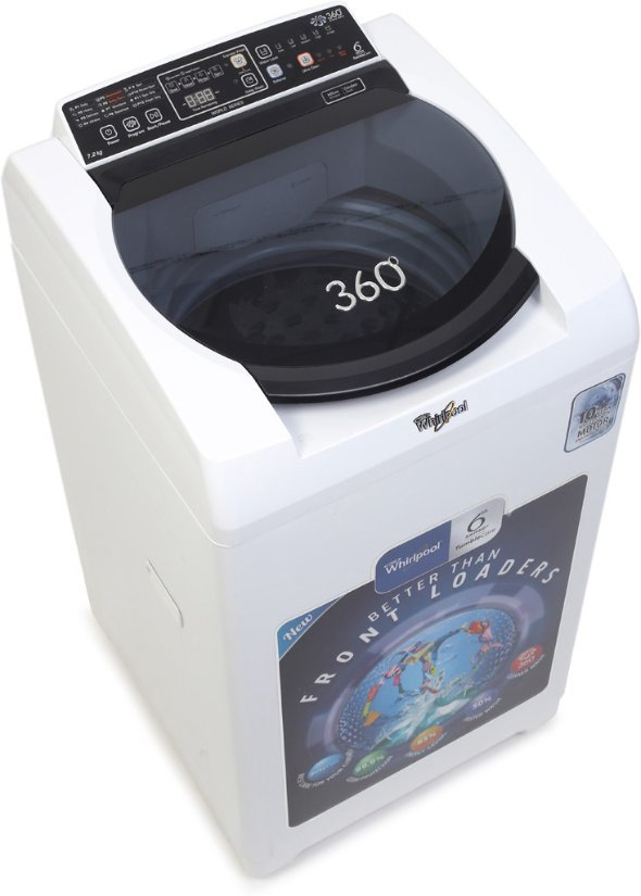 Best price on Whirlpool 7.2 Kg 360 WRD SR WS 72H Fully Automatic Top Load Washing Machine in India